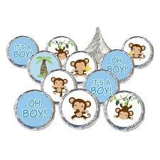 monkey boy baby shower monkey boy baby shower stickers set of 324