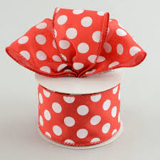polka dot ribbon 2 5 big polka dot ribbon white 10 yards rg158924