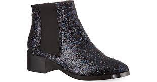 ugg boots sale kurt geiger kg by kurt geiger shadow glitter detail ankle boots in black lyst