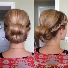 hairstyles using a bun donut sock bun hairstyles with braids for long honey blonde hair cute