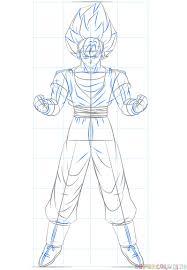 how to draw goku super saiyan step by step drawing tutorials