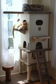 Outdoor Cat Condo Plans by Best 25 Cat Tower Plans Ideas On Pinterest Cat Trees Diy Easy