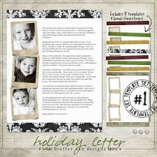 preview holiday letter template set christmas letters
