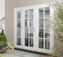 Wood Patio French Doors - cream wooden french doors with sidelights for study writing