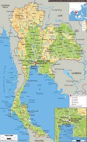 Physical Map Of East Asia by Maps Of Thailand Detailed Map Of Thailand In English Tourist