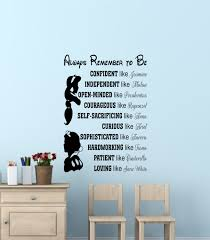 Disney Princess Home Decor by Mesmerizing Disney Quotes Wall Decals 55 With Additional Home