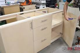 how to build base cabinets with kreg jig diy base cabinet with drawers 8 steps with pictures