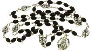 seven sorrows rosary black wood chrome 7 sorrows rosary with a prayer booklet 7