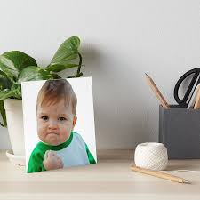 Baby With Fist Meme - nailed it fist pump baby meme art boards by piscao redbubble