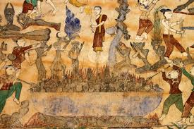 public domain old painting of religious and traditional thai