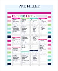 travel list images Travel packing list 10 free word pdf psd documents download jpg