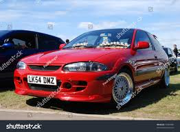 mitsubishi proton peterborough england may 23 red proton stock photo 73564990