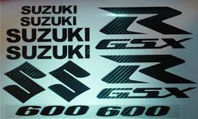 gsxr emblem amazon com carbon fiber gsxr 600 10 piece decal set xxl decal