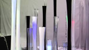 Wholesale Wedding Decorations Glass Tower Vases For Wedding And Feather Centerpieces By Koyal
