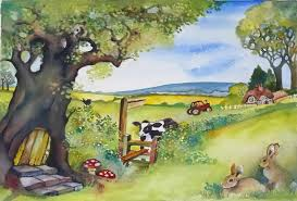 who lives in the old oak tree in all medium cards