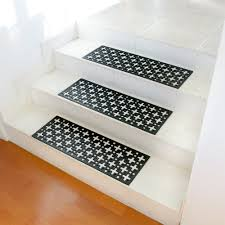good looking brown wooden garden stairs with black treads rubber