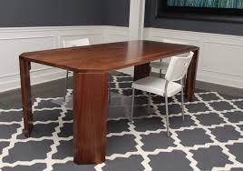 contemporary black stained mahogany wood dining table and bench