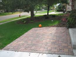Installing Pavers Patio Front Yard Front Yard Borgert Autumn Blend Cobble Paver Patio In