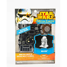 amazon com fascinations star wars r2d2 model kit metal earth
