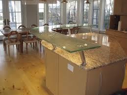 kitchen island eating area fusion glass countertop breakfast bar brooks custom