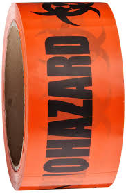roll products 142 0004 pvc film biohazard warning tape with black