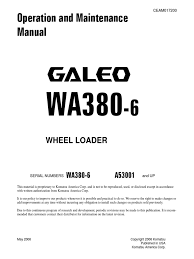 o u0026m wa380 6 a53001 up ceam017200 vehicle technology automobiles