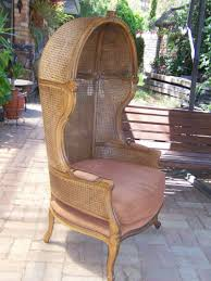 french canopy chair french vintage porter s cane rattan hood or canopy arm chair perfect