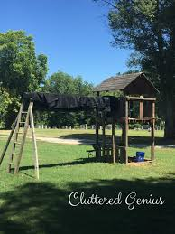 diy backyard clubhouse cluttered genius