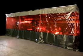 Retractable Welding Curtains Welding Booth Curtains For Sale Custom Weld Safety Material