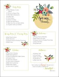spring cleaning checklist free printable oh my creative