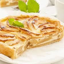 cuisine tarte aux pommes tarte aux pommes à la crème fraîche cuisine az