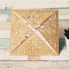 wholesale wedding invitations gorgeous gold floral laser cut wholesale wedding invitations