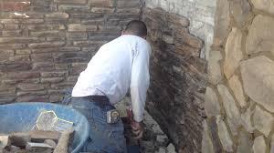 installing ledge stone veneer youtube