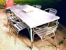 Iron Patio Dining Set Dining Table White Outdoor Dining Table Furniture Easy Build