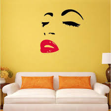 monroe red lips 3d removable wall decal sticker marilyn monroe red lips 3d removable wall decal sticker