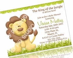 jungle baby shower invite lion king themed baby shower invitations futureclim info