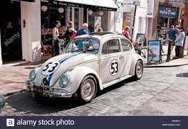 volkswagen beetle classic herbie old volkswagen beetle car painted in same colours as from the