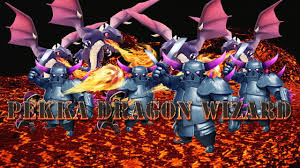 clash of clans attacks pekka dragon wizard combo youtube