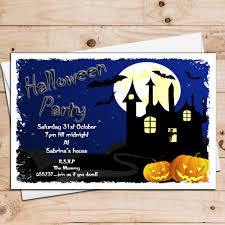 Halloween Birthday Card Ideas by 10 Personalised Scary Halloween Party Invitations N3