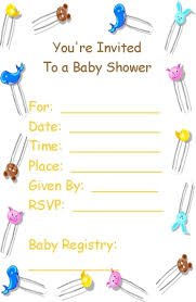 simple ideas free printable baby shower invitation cards modern