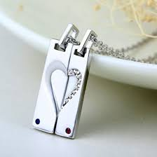 Customized Necklaces Jewels Broken Heart Necklaces Magnetic Necklaces His And Hers