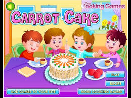 baby cooking game carrot cake games for girls to play youtube