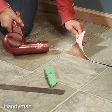 repair vinyl flooring patch damaged flooring family handyman