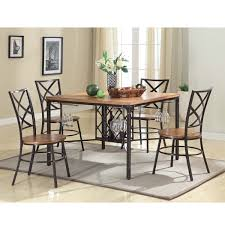 overstock dining room sets baxton studio anna vintage industrial 5 piece dining set dining