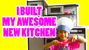 kidkraft modern espresso kitchen i built my awesome new kidkraft uptown espresso kitchen youtube