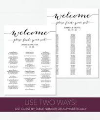 wedding seating chart by table various sizes vintage gold