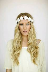 white flower headband flower headband floral crown flower halo festival headpiece white
