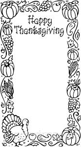 thanksgiving borders clip in black and white happy easter