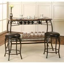 marque 3 piece counter height bar set cramco furniture cart