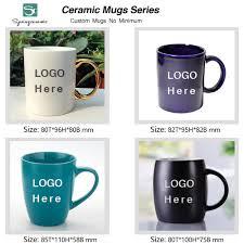 no minimum custom ceramic mug with logo ceramic coffee mug